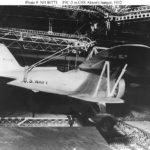 A Curtiss F9C-2 Sparrowhawk inside USS Akron (ZRS-4) hangar.
