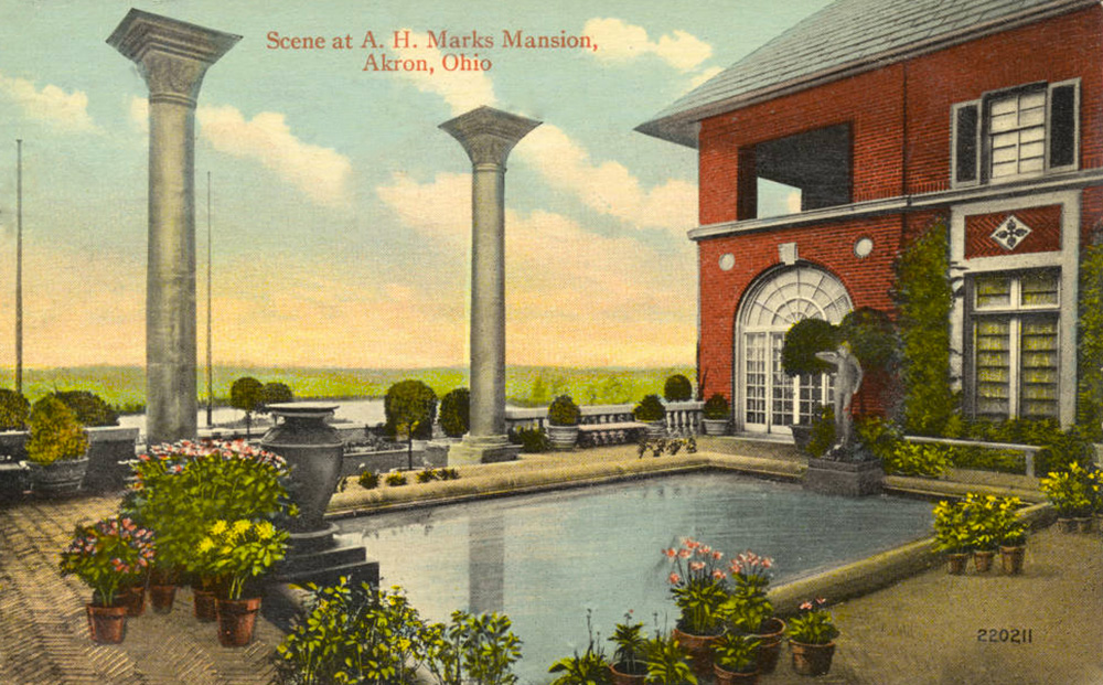 Scene at A.H. Marks Mansion, Akron, Ohio