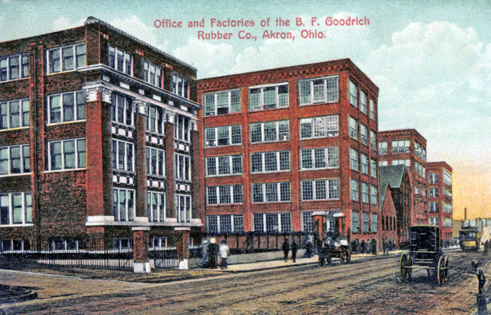 Office and Factories of the B. F. Goodrich Rubber Co., Akron, Ohio.