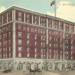 Postcard view of the New Portage Hotel, Akron, Ohio.