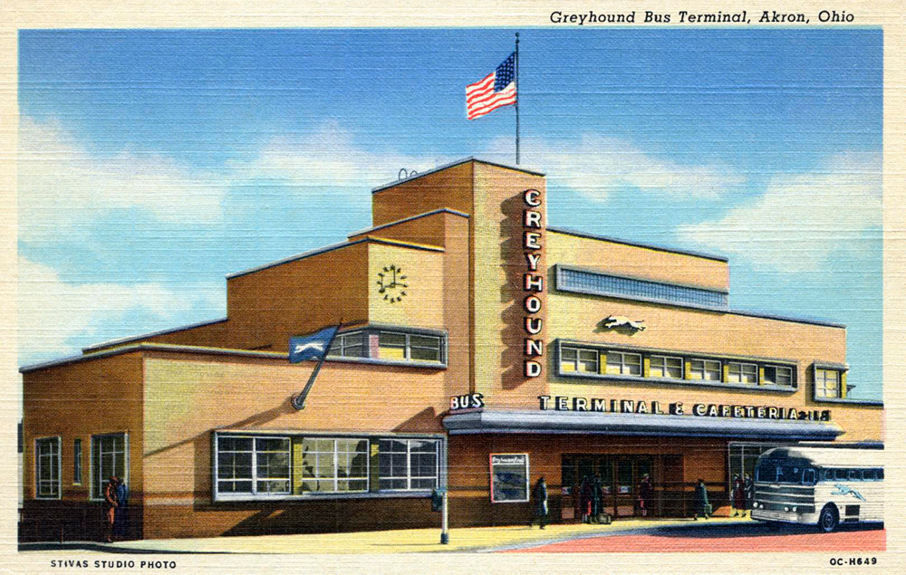 Bus Station, Akron, Ohio