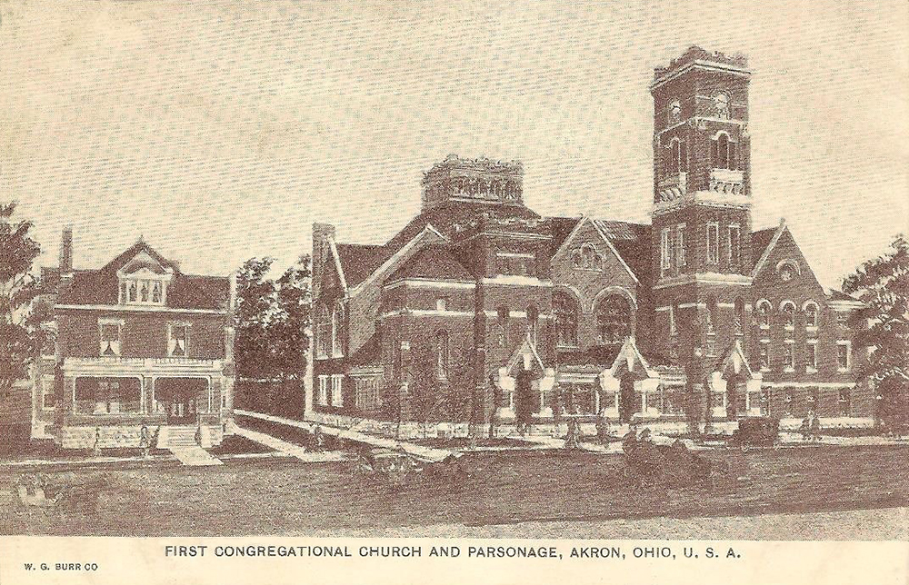 First Congregational Church and Parsonage, Akron, Ohio, U.S.A.