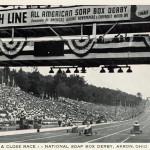 A close race..National Soap Box Derby. Akron, Ohio