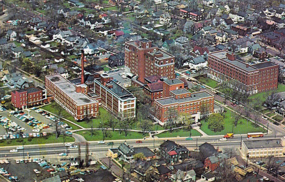 City Hospital Akron Postcards