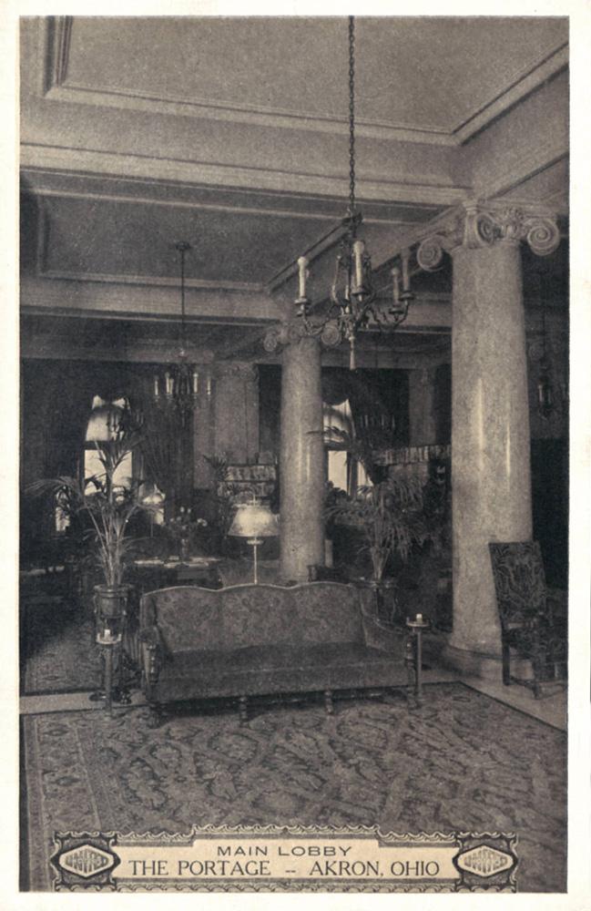 Portage Hotel Akron Postcards