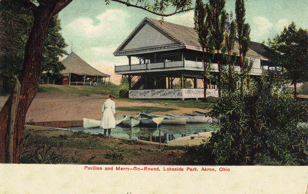 Pavilion and Merry-Go-Round, Lakeside Park, Akron, Ohio