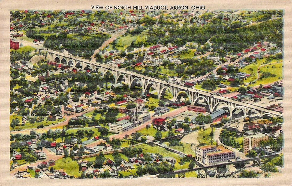 North Hill Viaduct Akron Postcards