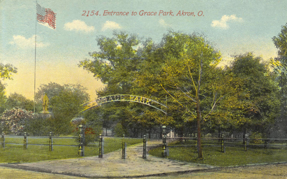 Entrance to Grace Park, Akron, O.