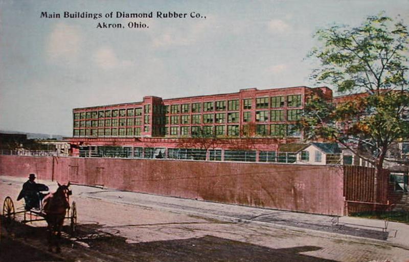 Main Building of the Diamond Rubber Co., Akron, Ohio.