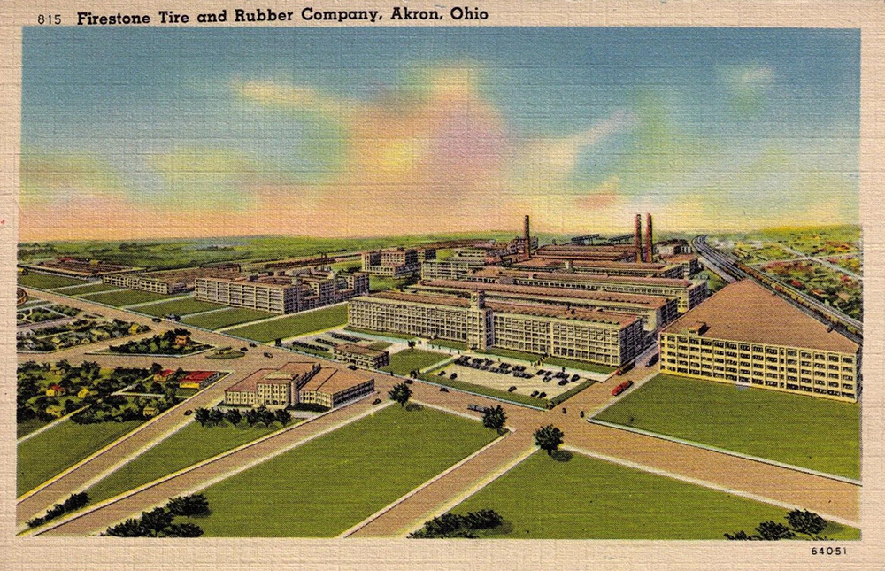 Firestone Tire Amp Rubber Co Akron Postcards