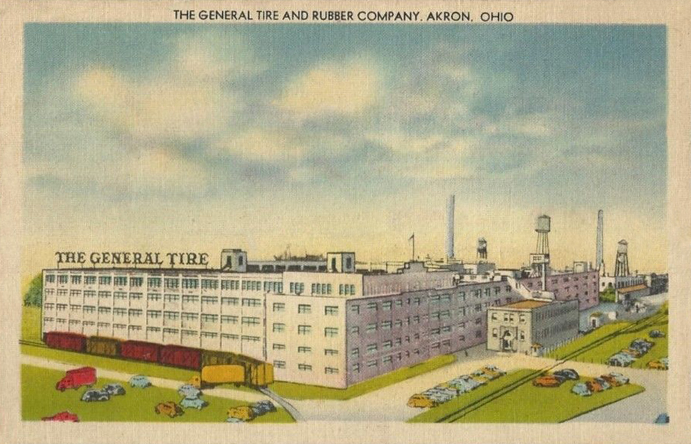 General Tire And Rubber Co Akron Postcards