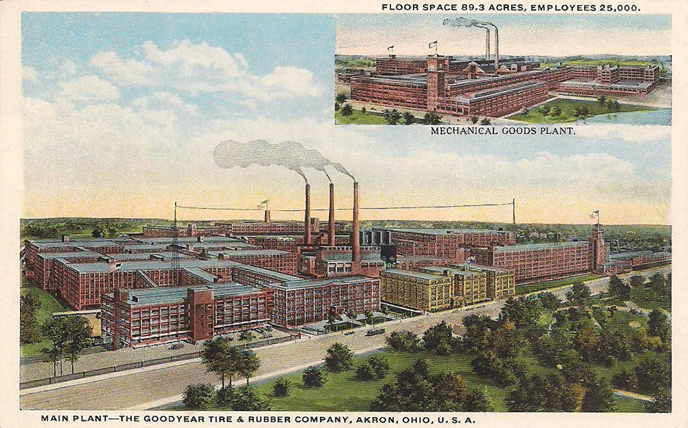 Main Plant - The Goodyear Tire and Rubber Company - Akron, Ohio U.S.A.