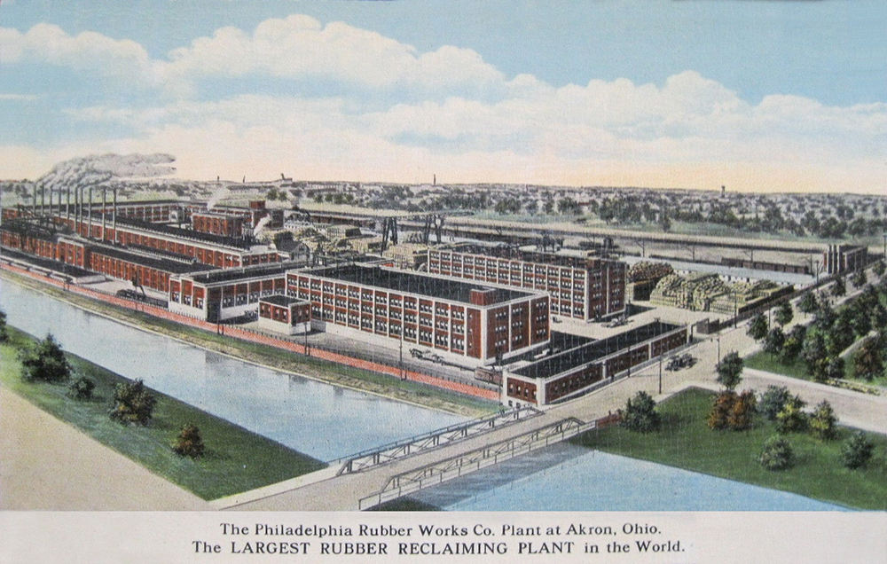The Philadelphia Rubber Works Co. Plant at Akron, Ohio.