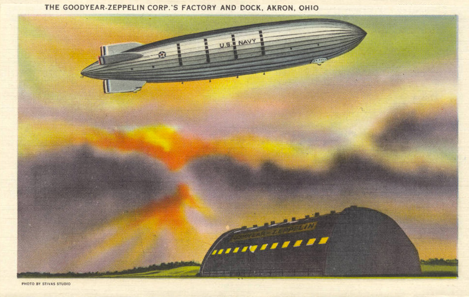 The Goodyear-Zeppelin Corp.'s Factory and Dock, Akron, Ohio