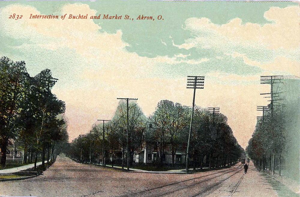 Intersection of Buchtel and Market St., Akron, O.
