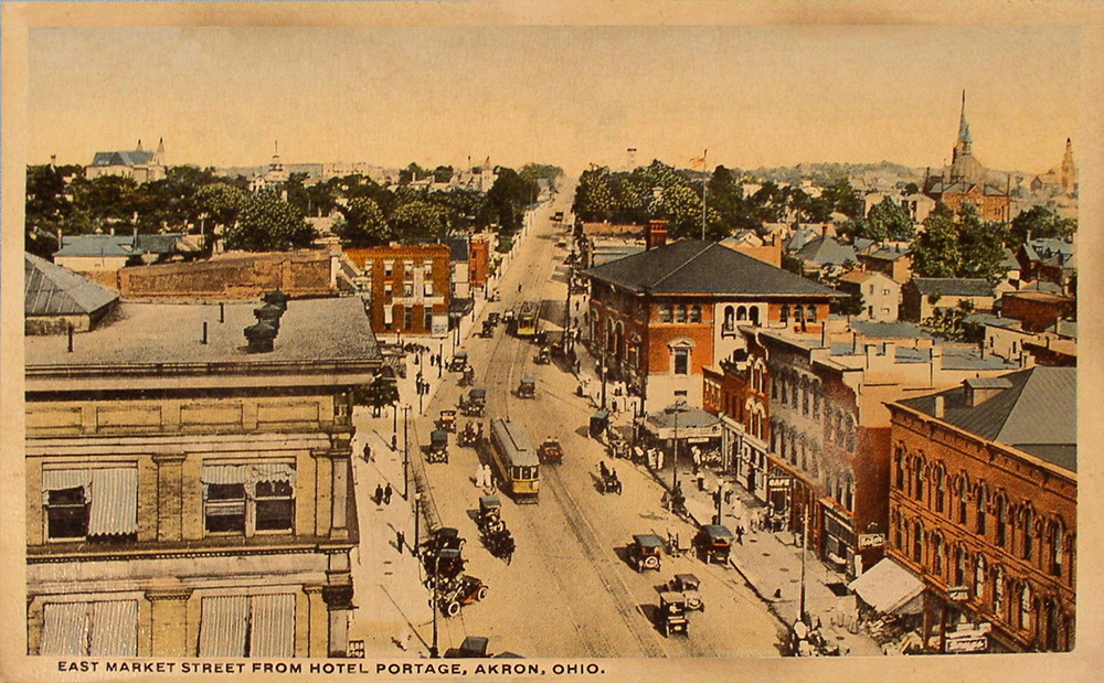 East Market Street Looking North, Akron, Ohio