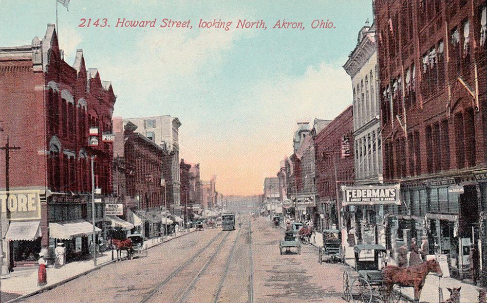 Howard Street, looking North, Akron, Ohio