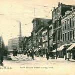 Akron, Ohio, U.S.A. South Howard Street looking South
