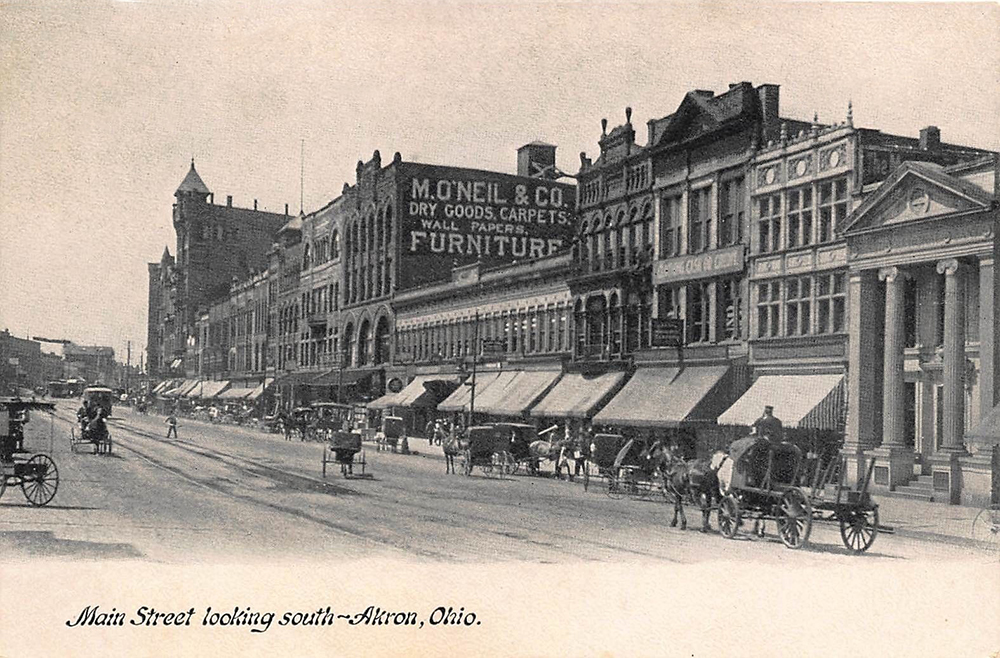 Main Street looking South, Akron, Ohio