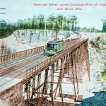 Street Car Bridge, across Cuyahoga River at Gorge, near Akron, Ohio