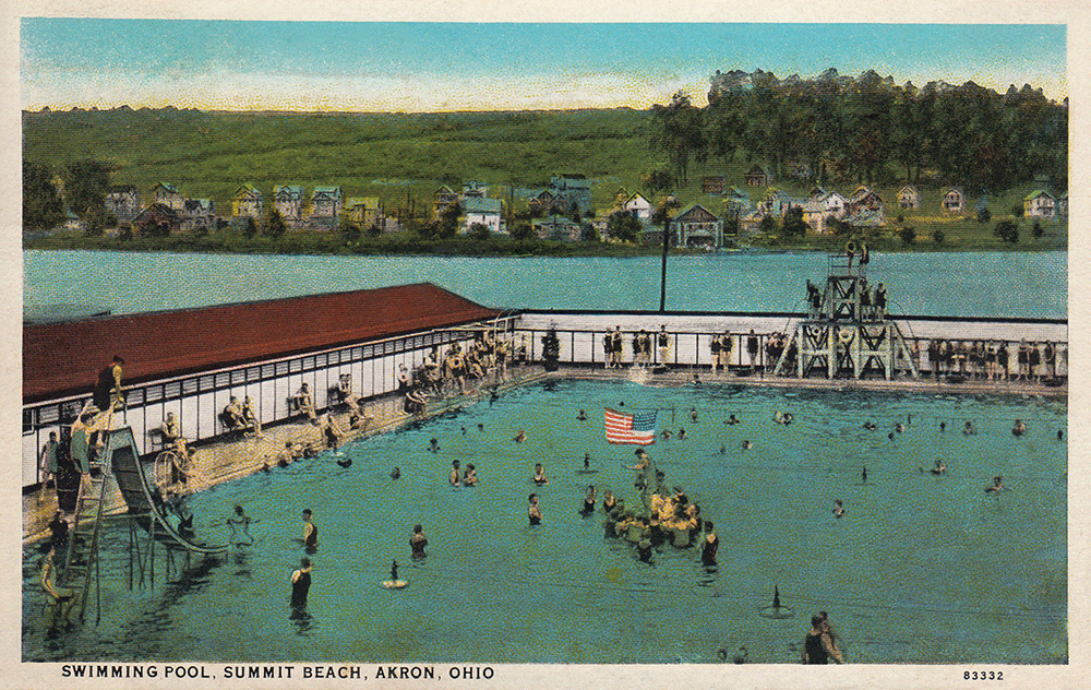 Summit Beach Park Dance Pavilion Akron Postcards