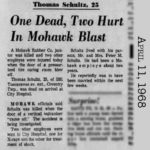 Thomas Schultz killed by Mohawk Rubber Equipment, Akron, Ohio