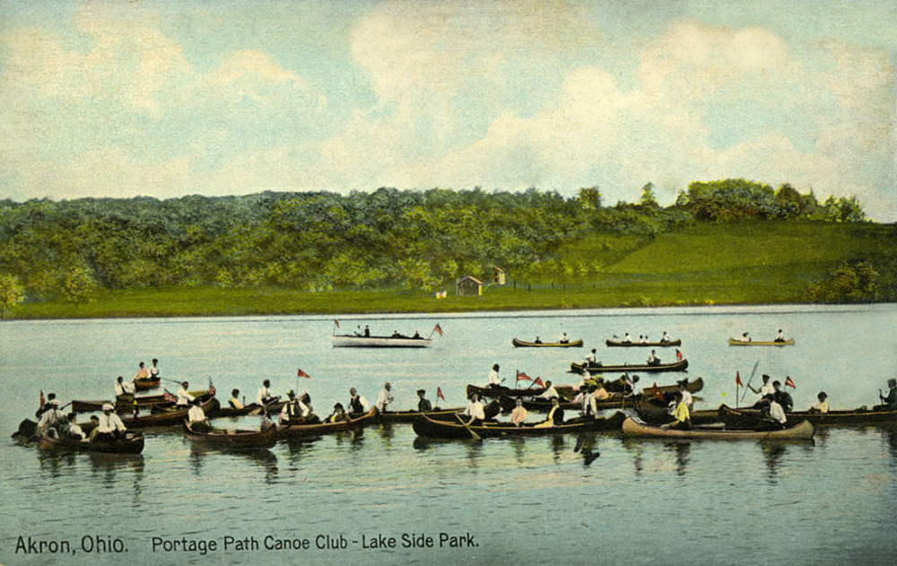 Akron, Ohio. Portage Path Canoe Club - Lake Side Park.