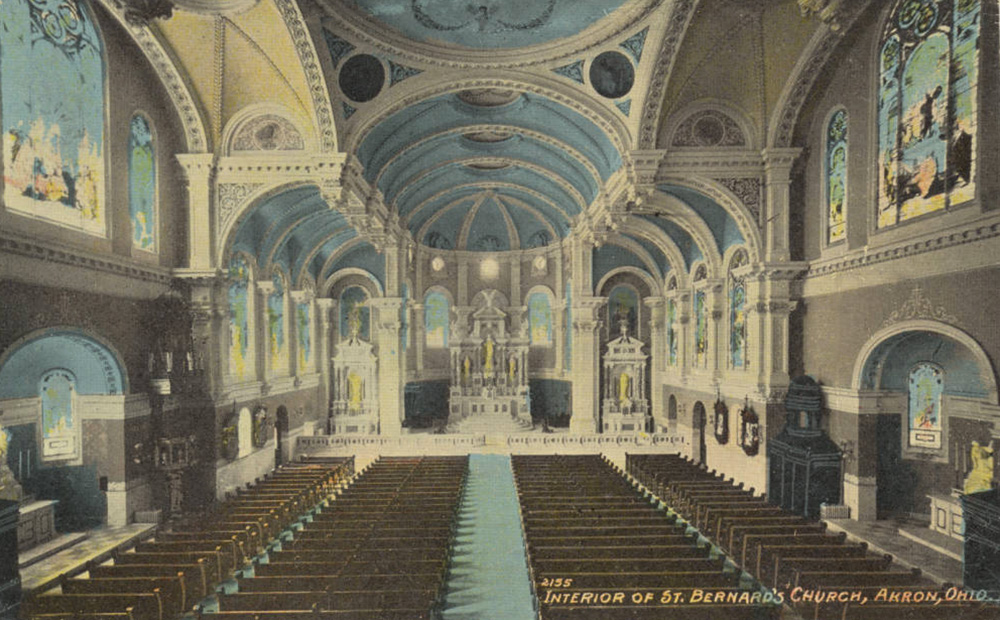 Interior of St. Bernard's Church, Akron, Ohio