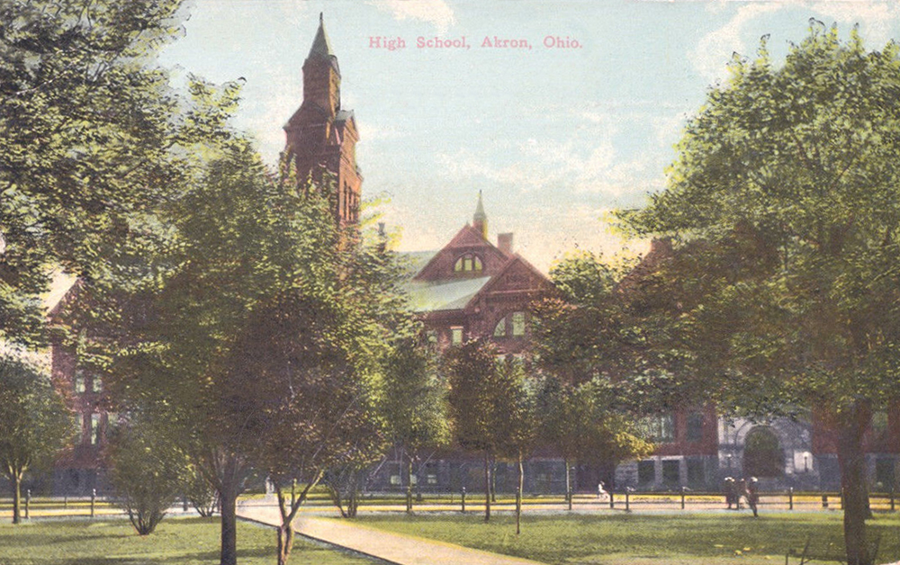 High School, Akron, Ohio.