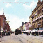 Howard Street, looking North, Akron, Ohio.