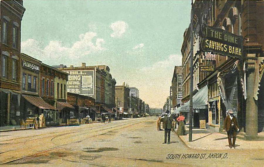 Howard Street Akron Postcards