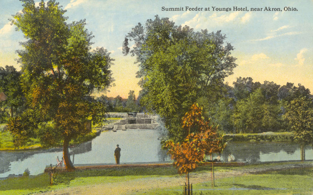Summit Feeder at Young's Hotel, near Akron, Ohio.