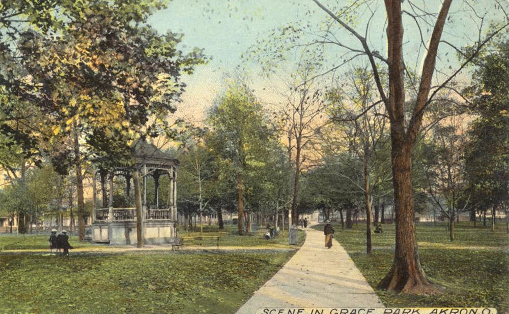 Scene in Grace Park, Akron, O.