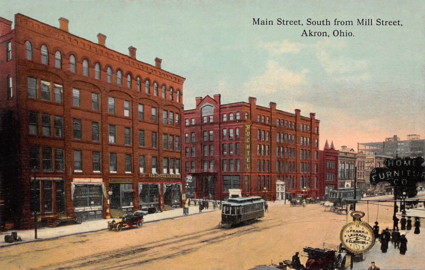 Main Street South from Mill Street, Akron, Ohio