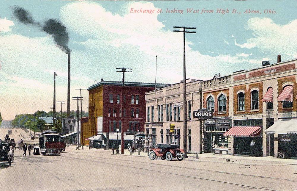 Exchange Street looking west from High Street