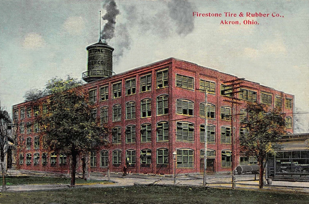 Used Tires Akron Ohio >> Firestone Tire & Rubber Co. - Akron Postcards
