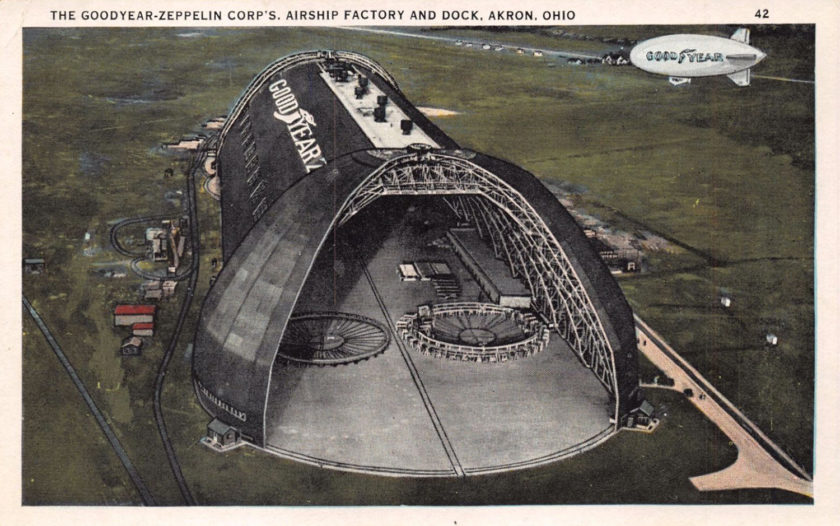 The Goodyear-Zeppelin Corp's. Airship Factory and Dock