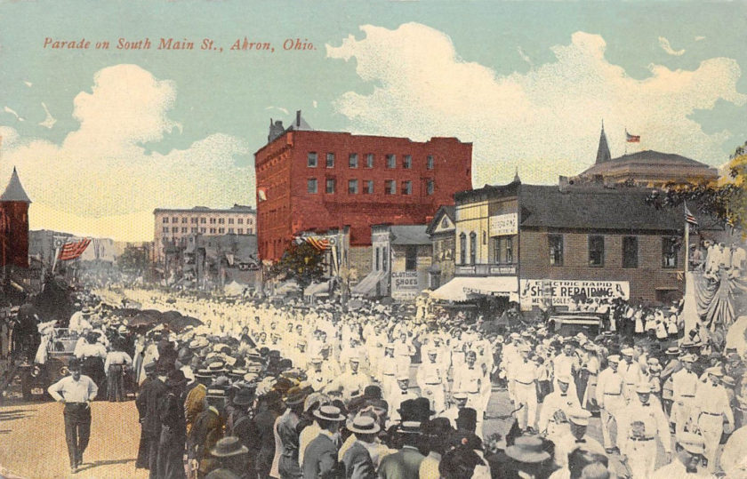 Parade on South Main Street, Akron, Ohio