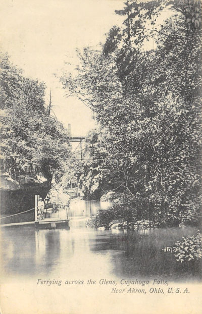 Ferrying across the Glens, Cuyahoga Falls, near Akron, Ohio