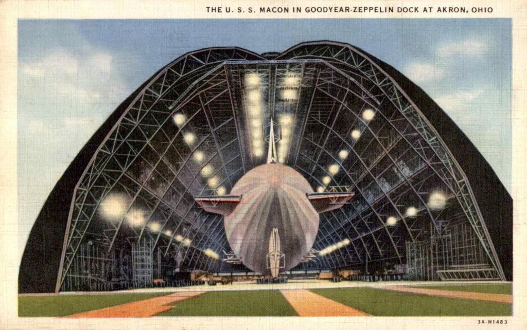 U.S.S. Macon in Goodyear-Zeppelin Dock, Akron, Ohio