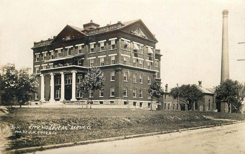 City Hospital - Published by S.H. Knox Co. Akron, Ohio