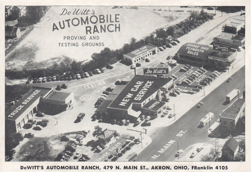 DeWitt's Automobile Ranch, Akron, Ohio