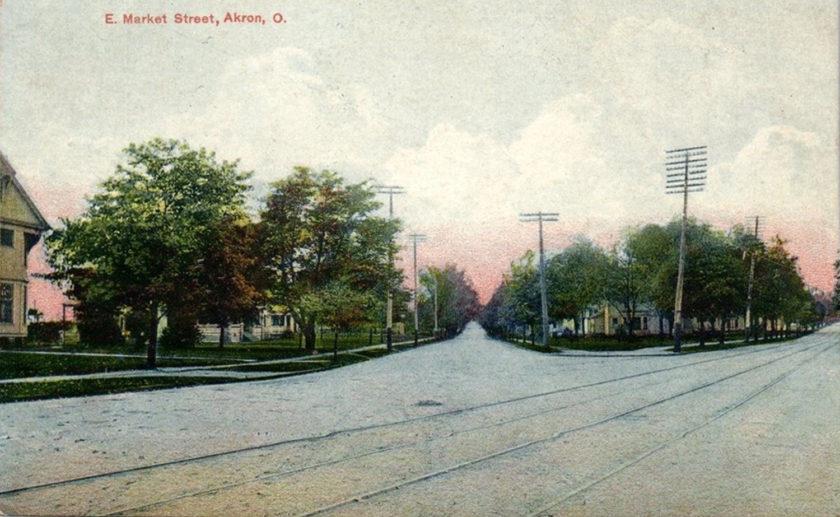 E. Market Street, Akron, Ohio