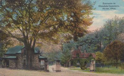 Entrance to Glendale Cemetery, Akron, Ohio