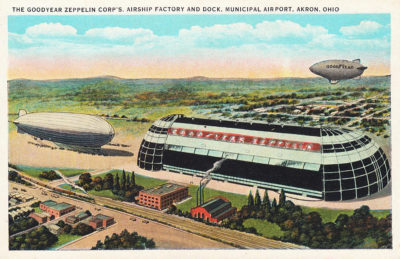 The Goodyear Zeppelin Corp's Airship Factory and Dock, Municipal Airport, Akron, Ohio