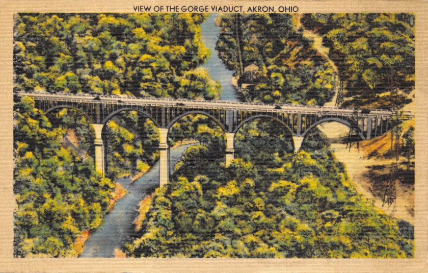View of the Gorge Viaduct, Akron, Ohio