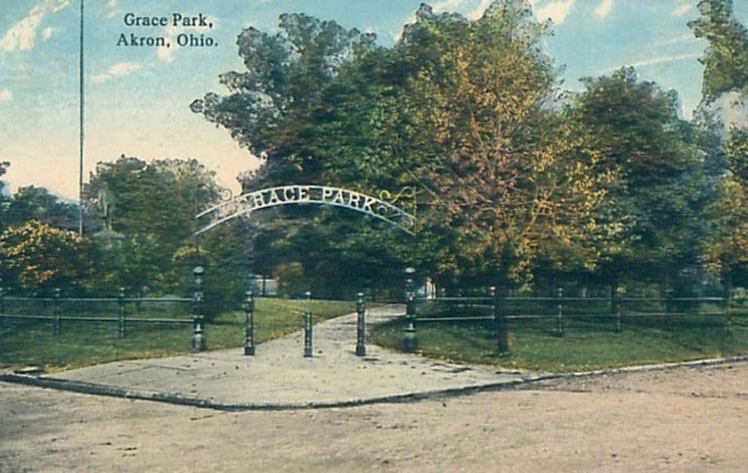 Grace Park Entrance, Akron, Ohio