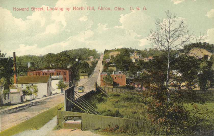 Howard Street - Looking up North Hill, Akron, Ohio
