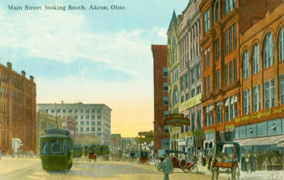 Main Street, looking South, Akron, Ohio