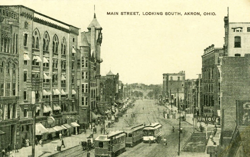 Looking North on Akron's Main Street